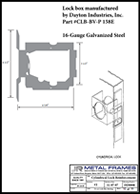 This link will take you to a Cylindrical Lock Reinforcement PDF provided by JR Metal Frames.
