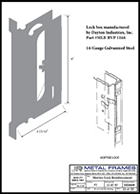 This link will take you to a Mortise Lock Reinforcement PDF provided by JR Metal Frames.