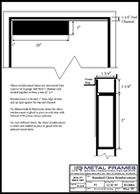 This link will take you to Standard Closer Reinforcement PDF provided by JR Metal Frames.