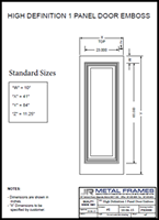High Definition 1 Panel Door Embosssed PDF provided by JR Metal Frames.