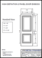 High Definition 2 Panel Door Embosssed PDF provided by JR Metal Frames.