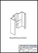 Drywall Pressure Anchor PDF provided by JR Metal Frames.