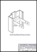 Steel Stud Wood Strap Combo Anchor PDF provided by JR Metal Frames.