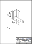 Wood Stud Anchor PDF provided by JR Metal Frames.